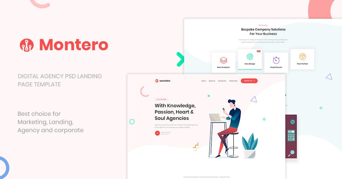 Download Montero - Digital Agency PSD Landing Page Template by PrexTheme