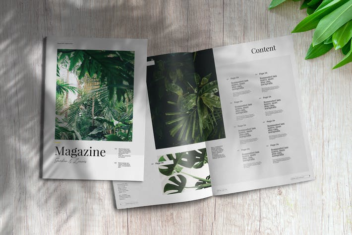 Thumbnail for Garden And Leaves | Magazine Template