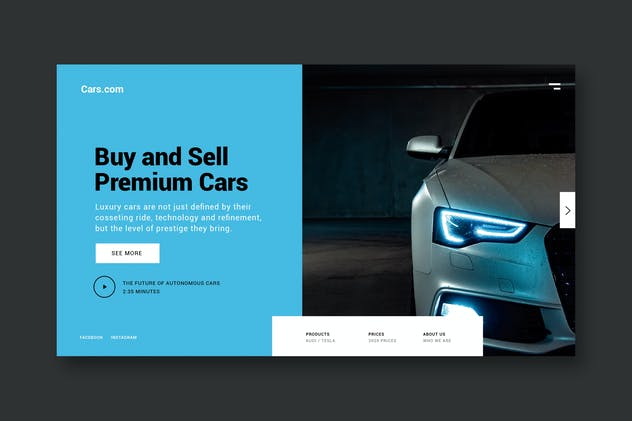 Buy Premium Cars - Landing Page