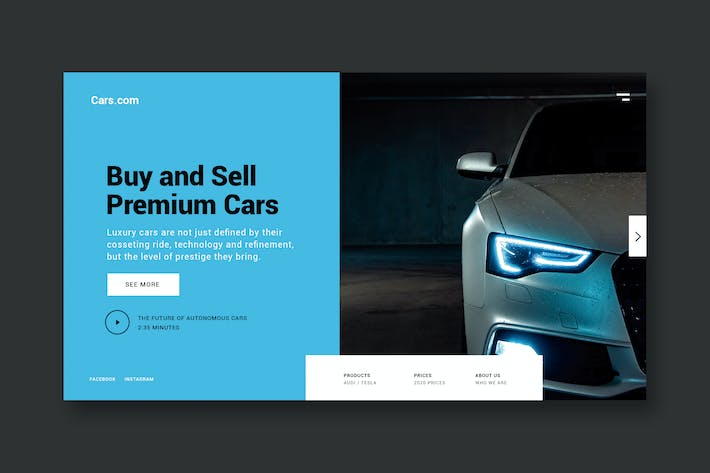 Thumbnail for Buy Premium Cars - Landing Page