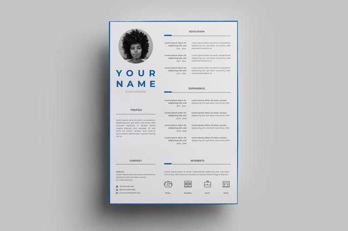 Thumbnail for Resume Design Templates.07