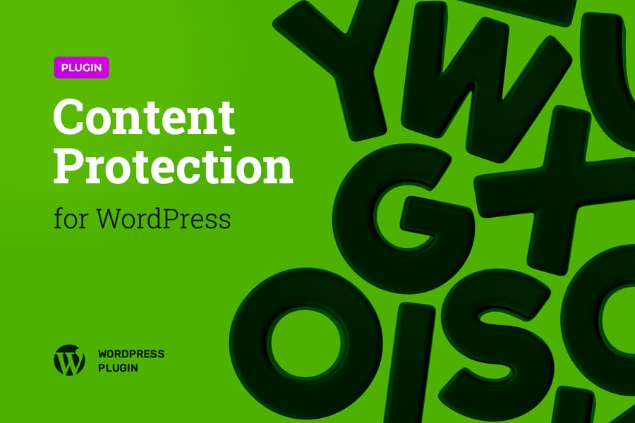 Content Protection Plugin for WordPress Theme