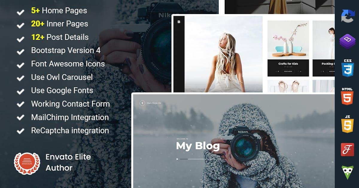 Download Bucklin - Creative Personal Blog HTML Template by DexignZone