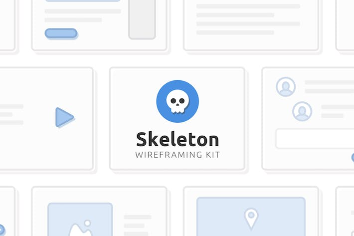 Cover Image For Skeleton Wireframing Kit