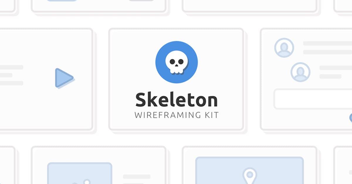 Download Skeleton Wireframing Kit by RobertMayer