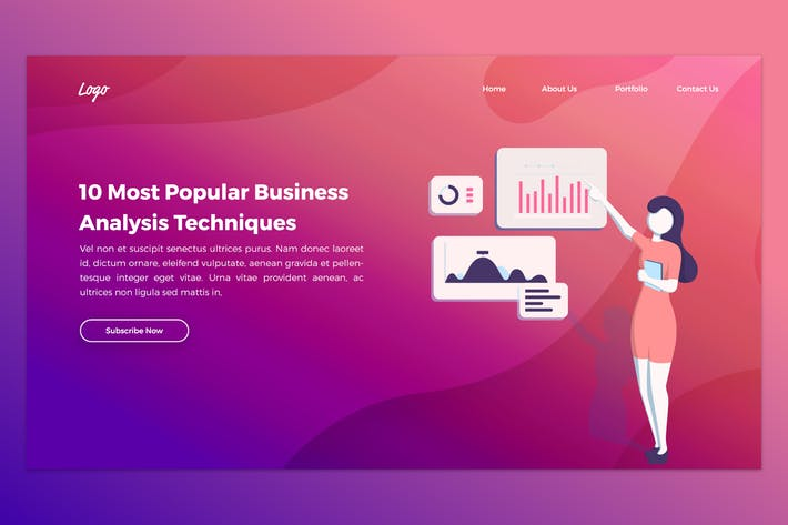 Thumbnail for Marketing & Business Analysis Hero Header PSD