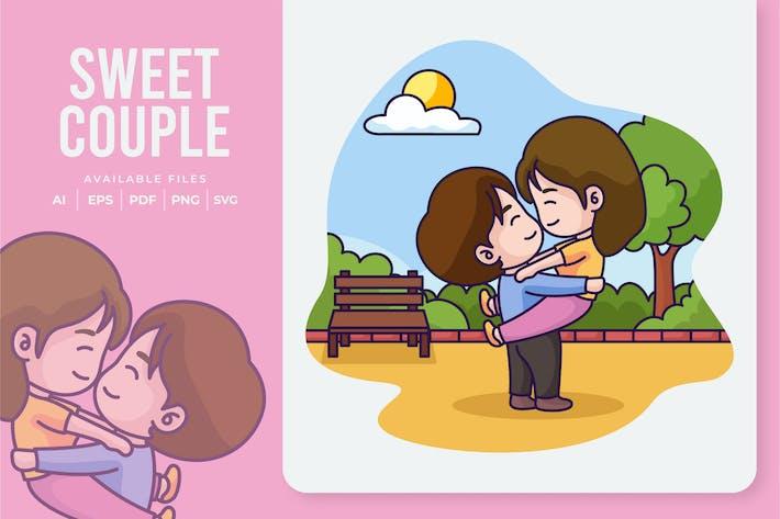 Thumbnail for Sweet Couple Illustration