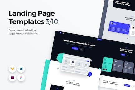Landing Page Templates - Web UI Kit - 3