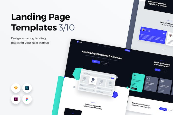 Thumbnail for Landing Page Templates - Web UI Kit - 3
