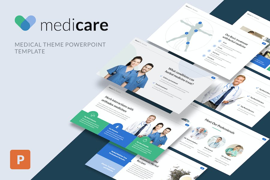 MediCare - Medical Powerpoint Template