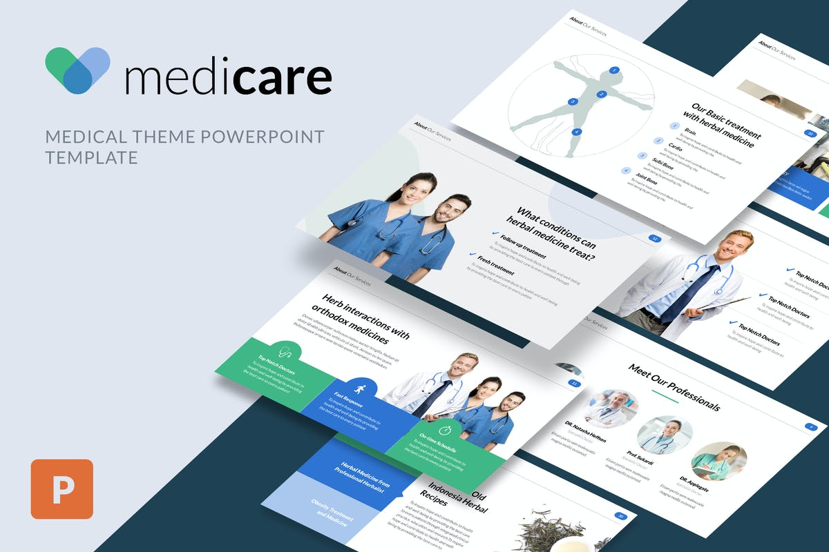 Medicare medical powerpoint template by slidehack on envato elements toneelgroepblik Choice Image