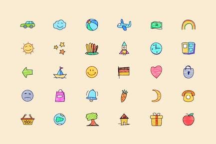 Super Naive drawings icons