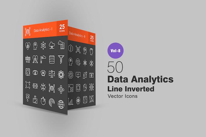Thumbnail for 50 Datenanalysezeilen-invertierte Icons