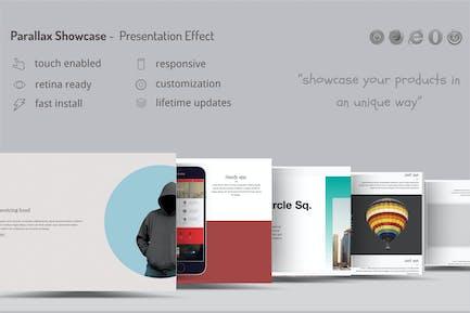 Parallax Showcase Effects - Presente sus productos