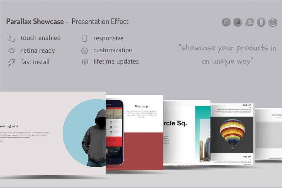 Parallax Showcase Effects - Present your products