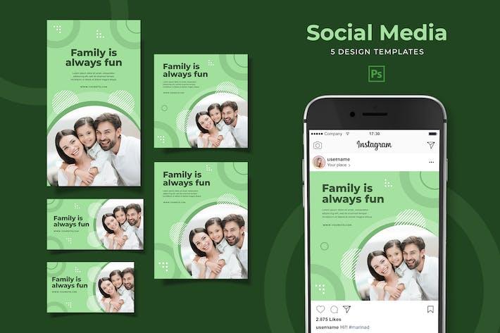 Thumbnail for Pack de médias sociaux familiaux