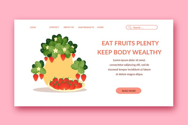 fruit landing page template