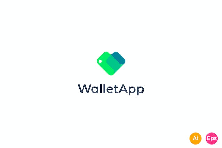 Wallet App - Donation, Care, Fund Logo template