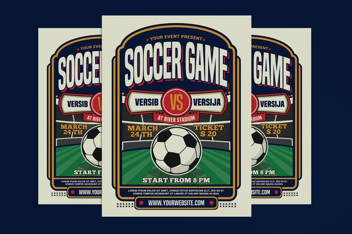 Soccer Game Sport Flyer