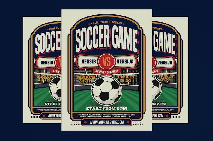 Thumbnail for Soccer Game Sport Flyer