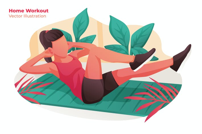 Thumbnail for Home Workout - Vector Illustration