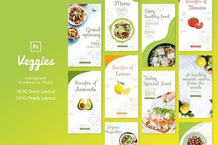Veggies - Instagram Promotion Pack