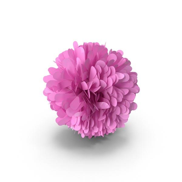 Розовый с пом-помом