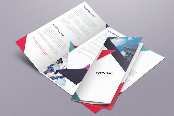 Thumbnail for Geometric Brochure Tri-Fold