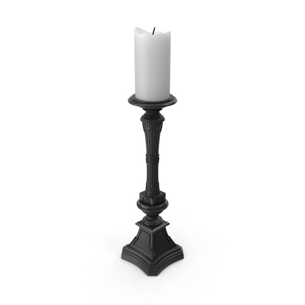 Cover Image for Candelabro barroco negro