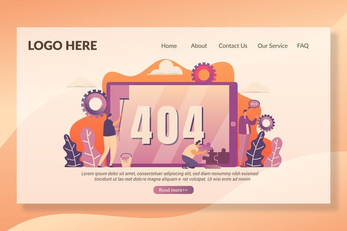 Thumbnail for 404 страница - Landing Page