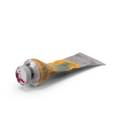 Tubo de pintura al óleo usado