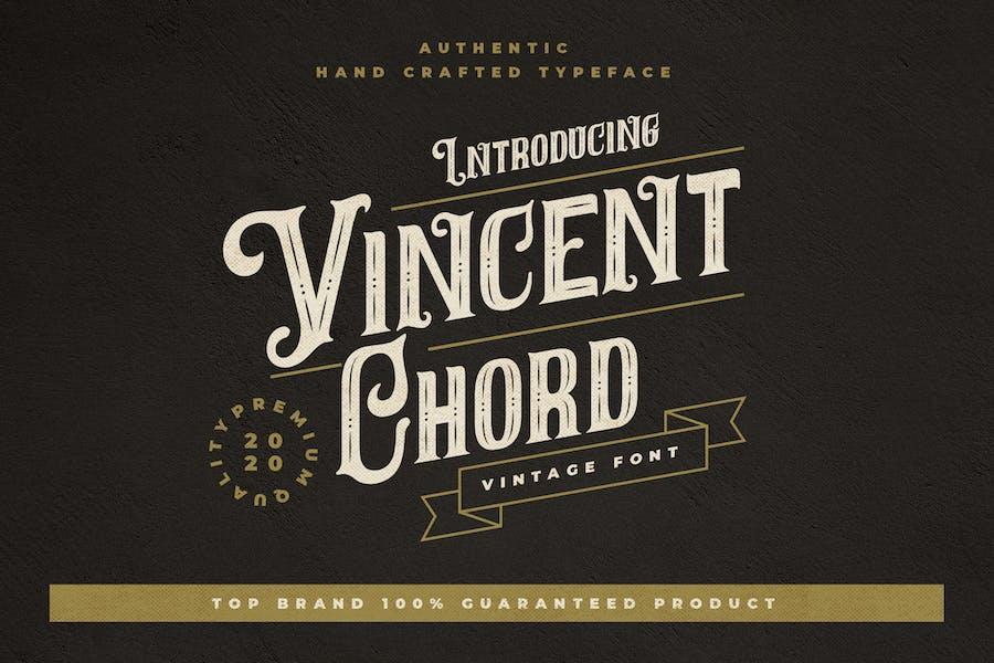 Vincent Chord - Vintage Decorative Typeface