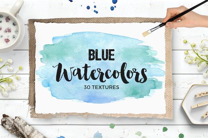 Thumbnail for Синие акварельные текстуры