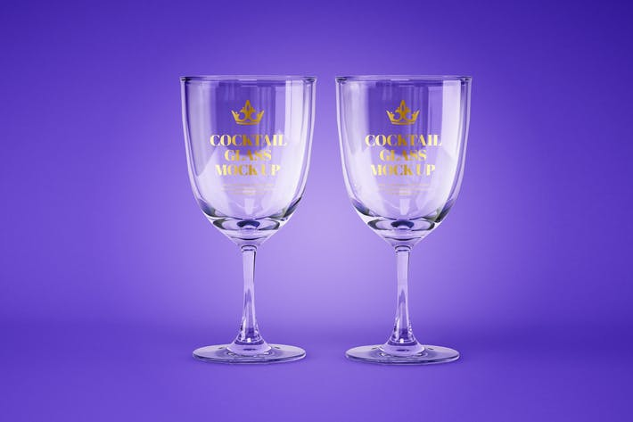 Thumbnail for Wine and Cocktail Glass Mockup