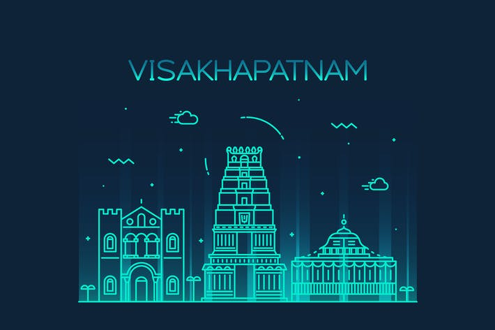 Thumbnail for Visakhapatnam skyline, India
