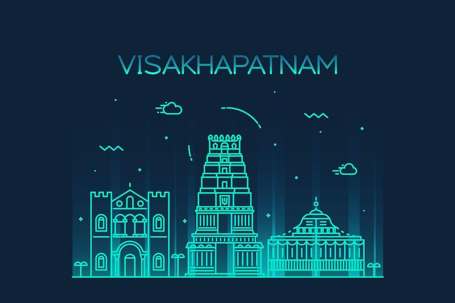 Visakhapatnam skyline, India