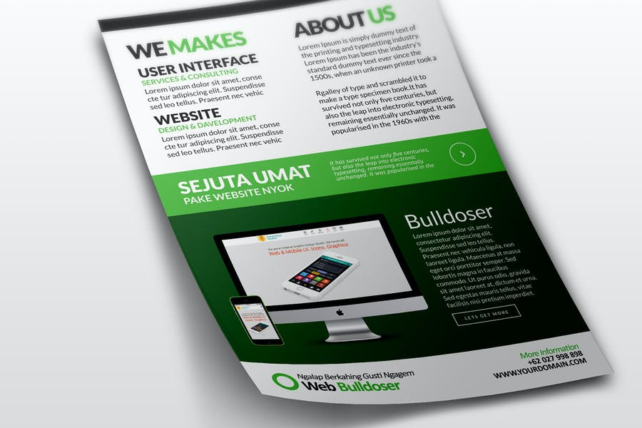 Premium Web Design Flyer Tempalte