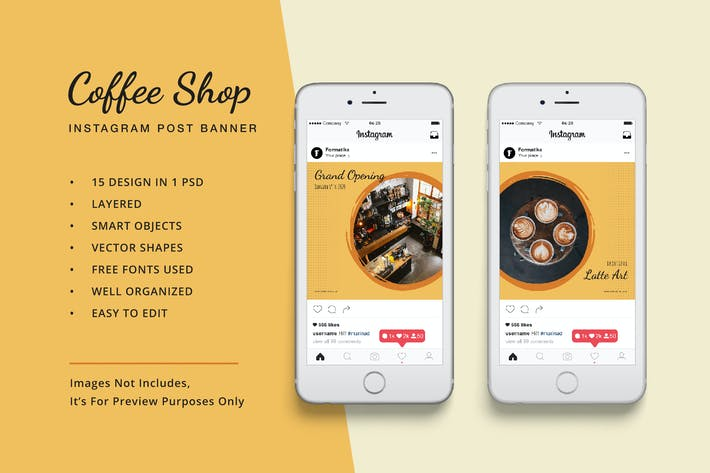 Thumbnail for Coffee Shop Instagram Post Banner