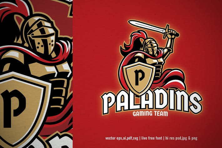 Thumbnail for paladin knight for sport and e-sport logo