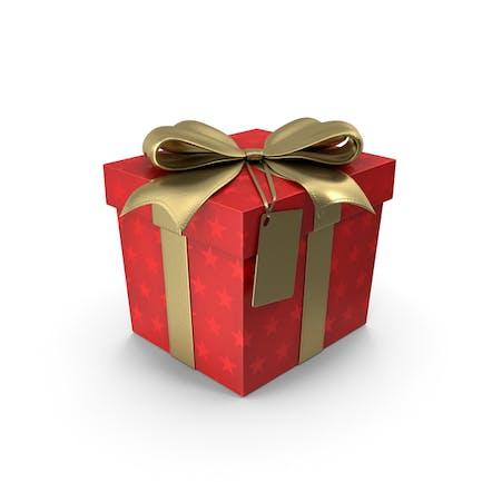 Etiqueta de cubo de caja regalo