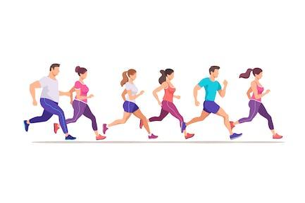 Laufende Leute