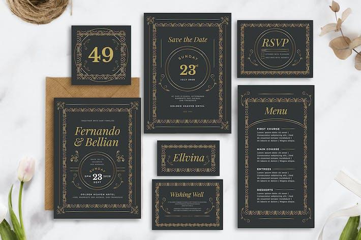 Elegant Classic Vintage - Wedding Invitation