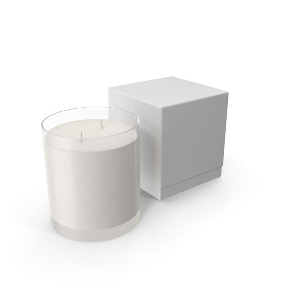 White Candle with Box