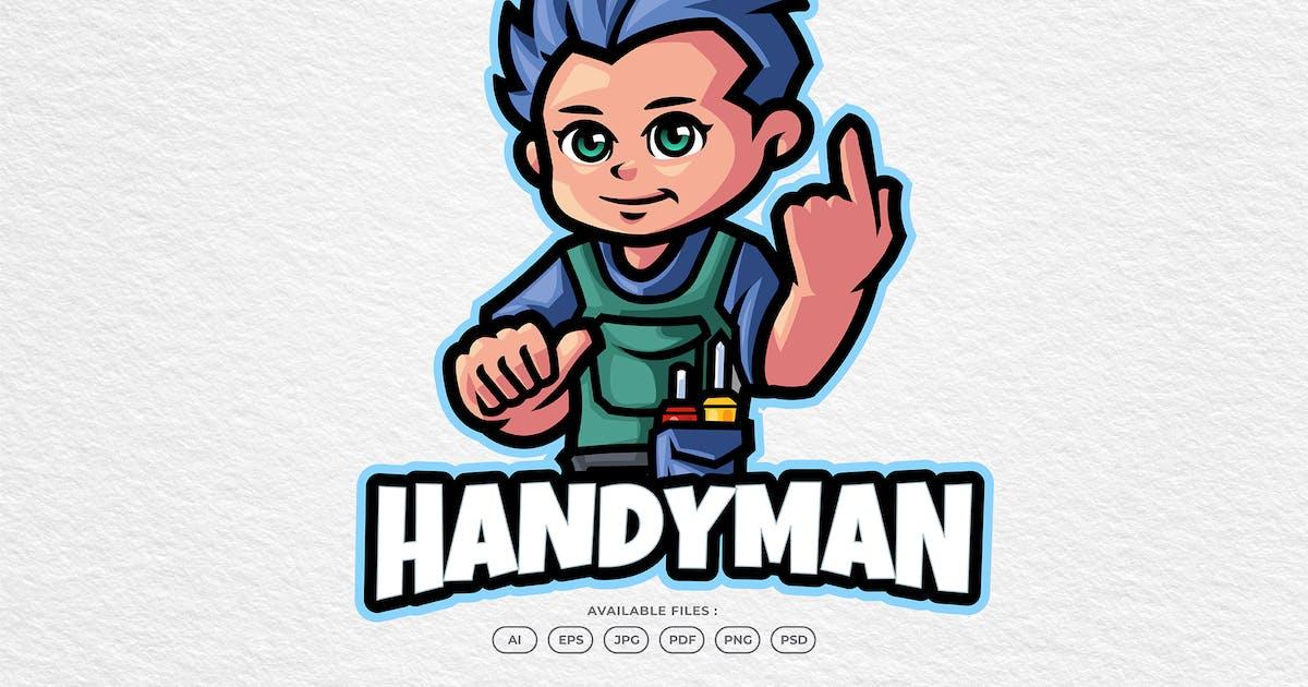 Download Handyman Service & Repair Cartoon Mascot Logo by yogaperdana7