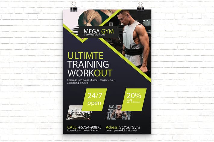 Thumbnail for Gym Sport Flyer Template