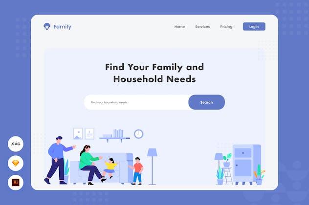 Find Your Family - Website header illustration