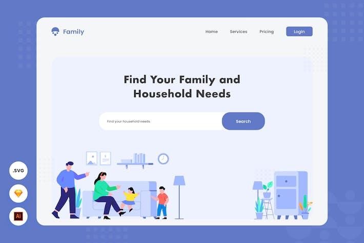 Thumbnail for Trouver votre famille - Illustration d'en-tête de site Web