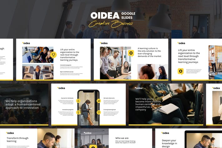 Thumbnail for OIDEA - Creative Studio Google Slides Template