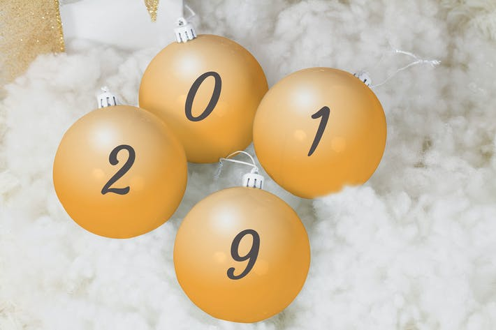 Thumbnail for 2019 Christmas Balls Mock Up