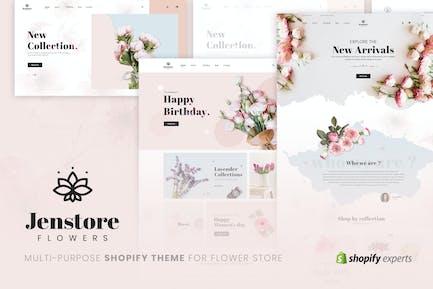 JenStore   Multi-Purpose Shopify Theme for Flower